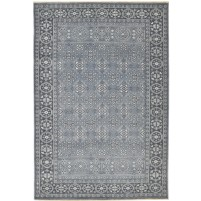 Traditional Hand Knotted Wool Grey 6' x 9' Rug - rh000171