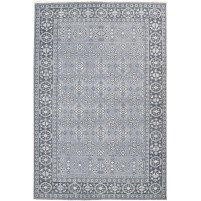 Traditional Hand Knotted Wool Grey 6' x 9' Rug - rh000172