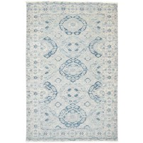 Traditional Hand Knotted Wool Beige 5' x 8' Rug - rh000180