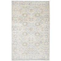 Traditional Hand Knotted Wool Beige 5' x 8' Rug - rh000184