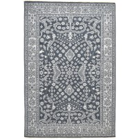 Traditional Hand Knotted Wool Black 6' x 9' Rug - rh000185
