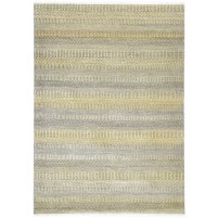 Modern Hand Knotted Wool Gold 5' x 8' Rug - rh000195