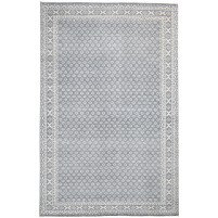 Modern Hand Knotted Wool Charcoal 5' x 8' Rug - rh000197