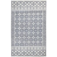 Modern Hand Knotted Wool Charcoal 5' x 8' Rug - rh000199