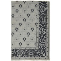 Traditional Hand Knotted Wool Ivory 4' x 6' Rug - rh000275