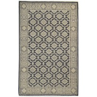 Traditional Hand Knotted Wool Black 4' x 6' Rug - rh000279