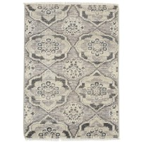 Modern Hand Knotted Wool Silver 2' x 3' Rug - rh000302