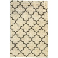 Modern Hand Knotted Wool Ivory 3' x 5' Rug - rh000503