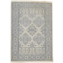 Traditional Hand Knotted Wool Ivory 2' x 3' Rug - rh000587