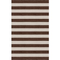Handmade Silver Brown HSTR-1002  Stripe Rugs 5'X8'