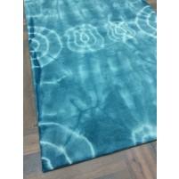 Handmade Woolen Shibori Blue Area Rug t-003 5x8