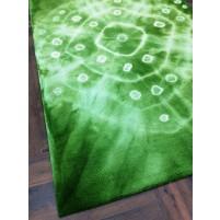 Handmade Woolen Shibori Green Area Rug t-336 5x8