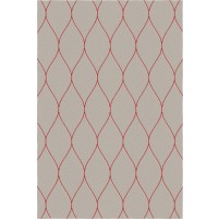 George TS3005 Brown / Red Wool Hand-Tufted Rug
