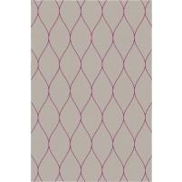 George TS3005 Brown / Purple Wool Hand-Tufted Rug
