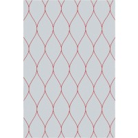 George TS3005 Light Grey / Red Wool Hand-Tufted Rug