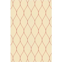 George TS3005 Peach / Red Wool Hand-Tufted Rug