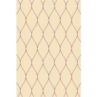 George TS3005 Peach / Purple Wool Hand-Tufted Rug