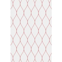 George TS3005 Silver / Red Wool Hand-Tufted Rug