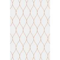 George TS3005 Silver / Orange Wool Hand-Tufted Rug