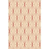 Floyd TS3013 Peach / Christmas Red Hand-Tufted Rug