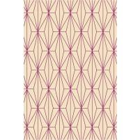 Floyd TS3013 Peach / Purple Hand-Tufted Rug