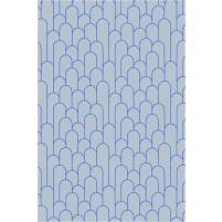 Amelia TS3015 Handmade Gray / Rich Blue Rug