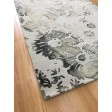 Handmade Wool Floral Ivory/ Green 5x8 lt1002 Area Rug