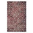 Handmade Wool Modern Ivory/ Wine Red 5x8 lt1005 Area Rug