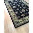 Handmade Wool Persian Black/ Gold 5x8 lt1013 Area Rug