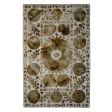 Handmade Wool Floral Ivory/ Green 5x8 lt1036 Area Rug