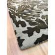 Handmade Wool Floral Gray/ Charcoal 5x8 lt1037 Area Rug