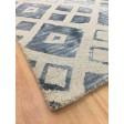 Handmade Wool Modern Ivory/ Blue 5x8 lt1048 Area Rug