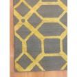 Handmade Wool Modern Gray/ Gold 5x8 lt1049 Area Rug