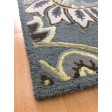 Handmade Wool Floral Gray/ Ivory 5x8 lt1056 Area Rug