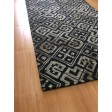 Handmade Wool/ Viscose Modern Black/ Gray 5x8 lt1071 Area Rug