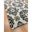 Handmade Wool Floral Ivory/ Black 5x8 lt1100 Area Rug