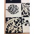 Handmade Wool Floral Ivory/ Black 5x8 lt1102 Area Rug