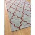Handmade Wool Modern Gray/ Rust 5x8 lt1163 Area Rug