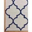 Handmade Wool Modern Ivory/ Navy Blue 5x8 lt1223 Area Rug
