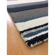 Handmade Wool Modern Ivroy/ Blue 5x8 lt1586 Area Rug