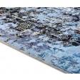 Modern Hand Knotted Wool / Silk Blue 8' x 10' Rug - rh000011
